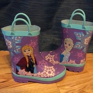 Girls Frozen rain boots